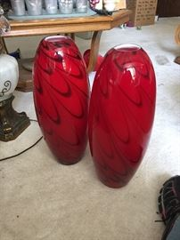 Gorgeous art glass vases