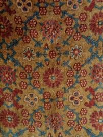 Antique Amsterdam hand block printed mohair fabric panel