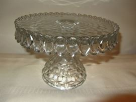 Imperial Candlewick Bead Glass Cake Stand