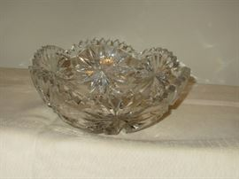 Etched Glass Bowl