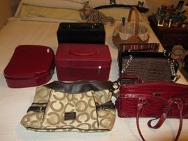 Purses- most new with tags, Make up cases