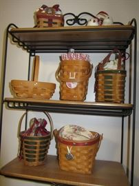 Longaberger Baskets- this is just a small sample of the over 100 that are here