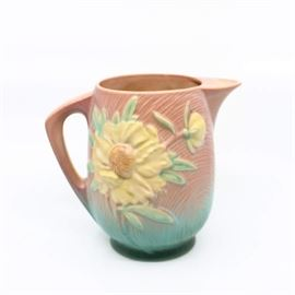 "Roseville ""Peony"" Ice Lip Pitcher - 1326-7"""