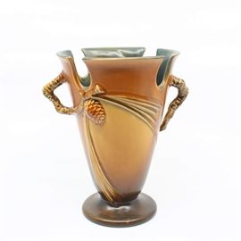 "Roseville ""Pine Cone"" Vase - 843-8"""