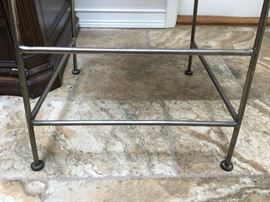 Foot rails on bottom of chairs
