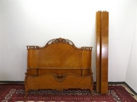 Antique Hand Carved Full Size Headboard/Footboard