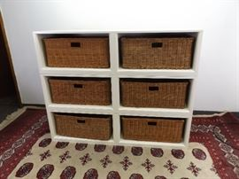 3 Pottery Barn Storage Benches/Stackable Shelves
