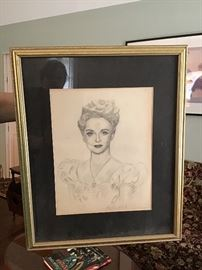 Framed Pencil Drawing by Shepherd