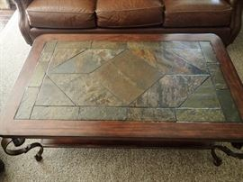 IRON & SLATE COFFEE TABLE