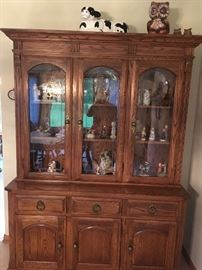 This beautiful china cabinet holds many of the homeowner's treasures!
