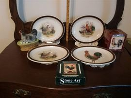 ROOSTER DINNERWARE AND COASTERS