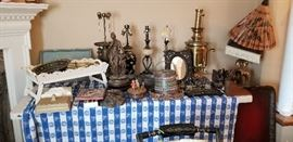 Antique lamps, Brass Tea server