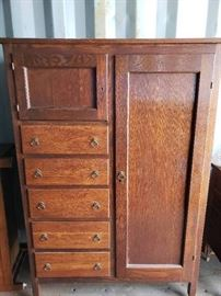 Antique Dressing Cabinet Armoire