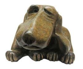 Marty Goldstein Harvey bronze dog
