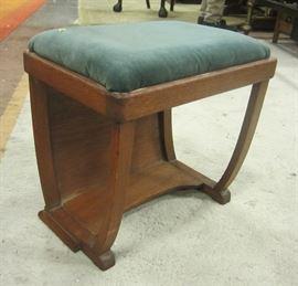 Mission oak vanity bench