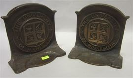 Cast iron U of MN bookends
