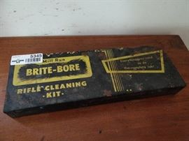 BriteBore rifle cleaning kit.
