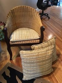 Side Chair and Matching Pillows