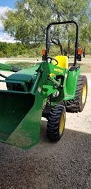 John Deere 3032E with D160 front end loader. Like new, only 142 hours.