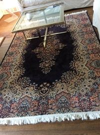 Area Rug & coffee table