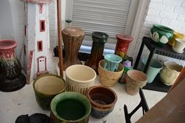 Ceramic planters and plant stands