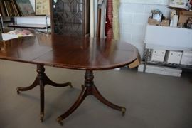 Duncan Phyfe double pedestal table ( two inserts not shown)