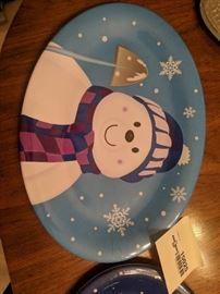 Christmas platters
