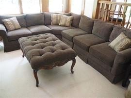 Like new sectional with matching ottoman