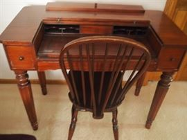 Antique desk/chair