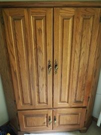 Gorgeous oak armoire