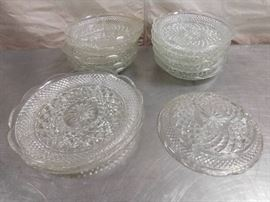 Clear Glass Decorative Serving Plates