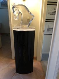 Beautiful Lalique horse head on stand stunning with appraissal
