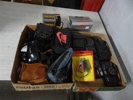 Cameras, camera bags accessories