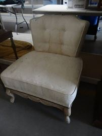 Decor accent chair need cleaned.
