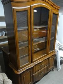 China cabinet w glass shelves 4 Drawers