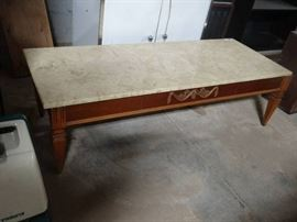 Coffee table w marble top.v