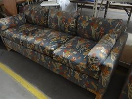 Couch w floral design.