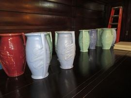 A Collection of large McCoy vases