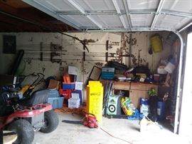 Leaf blower, lots of tools and garden equipment
