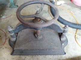 Antique book press from Chicago World Expedition