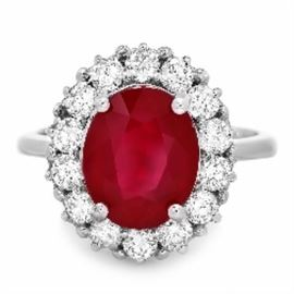 GIA Unheated Ruby Ring