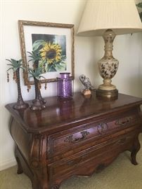 Bombay chest, porcelain lamp, and more!
