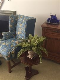 Arm chair - set of 2 available, side table and view of sideboard