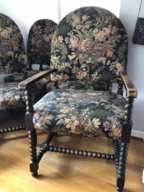 Arm chairs and side chairs (2 and 6)