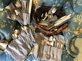 Sterling silver serviceware sets and spoons