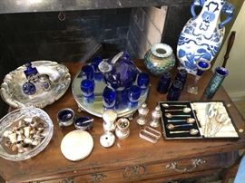 Sterling Silver, dishes, Salt and pepper, Salt cellars, spoons, coasters, spoons and more!