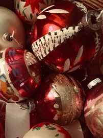 Large collection of vintage Christmas including Shiny Brite, Poland, Italy, West Germany and handmade beaded (popular in the 1970's).