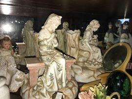 Many porcelain figures