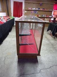 "Vintage Oak framed E.C. Simmons Keen Kutter display case. 8'x2.5'x42""."