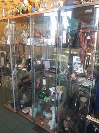 Curios/ glass display cabinets $60